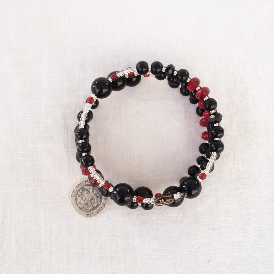 Thin Red Line Rosary Firefighters